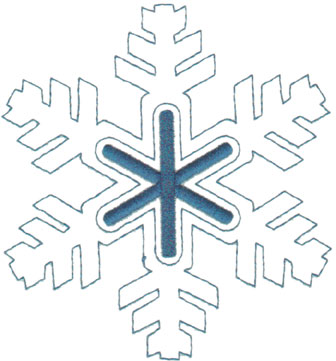 """Embroidery Design: Snowflake Outline4.61"""" x 5.01"""""""