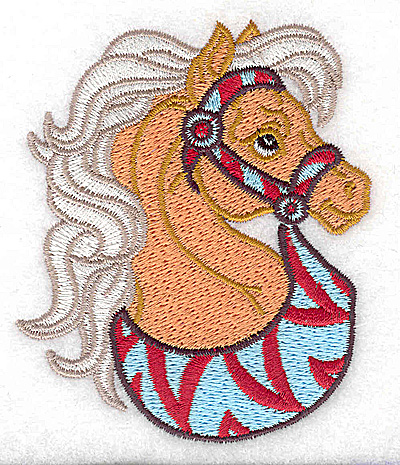 Embroidery Design: Carousel Horse 1 2.98w X 3.52h