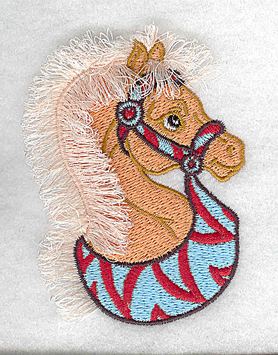 Embroidery Design: Carousel Horse 1 Fringe 2.66w X 3.61h