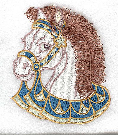 Embroidery Design: Carousel Horse 2 Fringe  3.13w X 3.68h