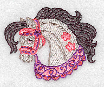Embroidery Design: Carousel Horse 3 3.89w X 3.11h