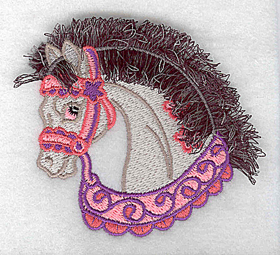 Embroidery Design: Carousel Horse 3 Fringe 3.32w X 3.03h