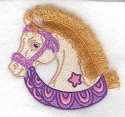 Embroidery Design: Carousel Horse 4 Fringe 3.84w X 3.51h