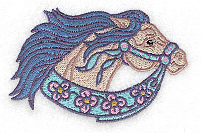 Embroidery Design: Carousel Horse 5 3.83w X 2.45h