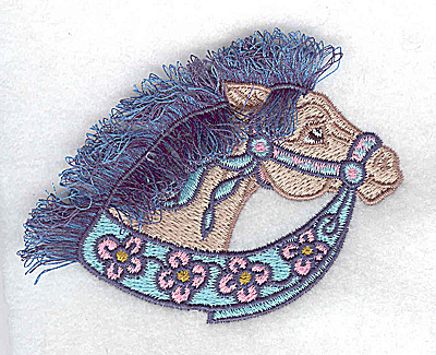 Embroidery Design: Carousel Horse 5 Fringe 3.51w X 2.56h