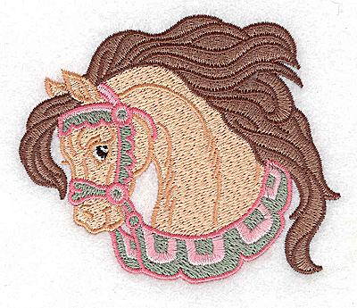 Embroidery Design: Carousel Horse 6 3.84w X 3.20h