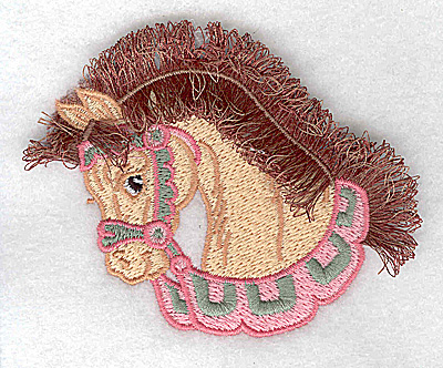 Embroidery Design: Carousel Horse 6 Fringe 3.50w X 2.99h
