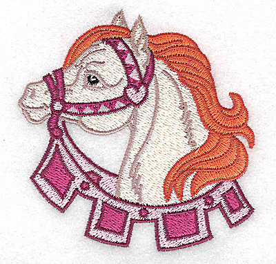 Embroidery Design: Carousel Horse 7 3.43w X 3.54h