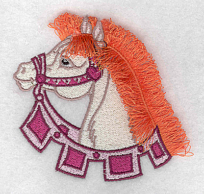 Embroidery Design: Carousel Horse 7 Fringe 3.67w X 3.55h