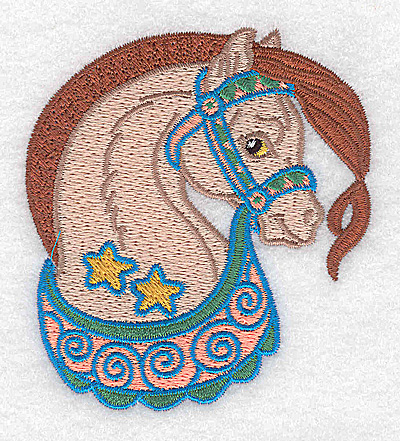 Embroidery Design: Carousel Horse 8 3.18w X 3.51h