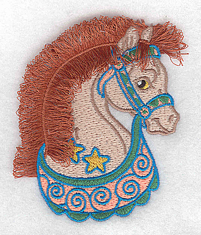 Embroidery Design: Carousel Horse 8 Fringe 2.99w X 3.59h
