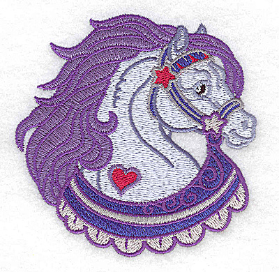 Embroidery Design: Carousel Horse 9  3.56w X 3.57h