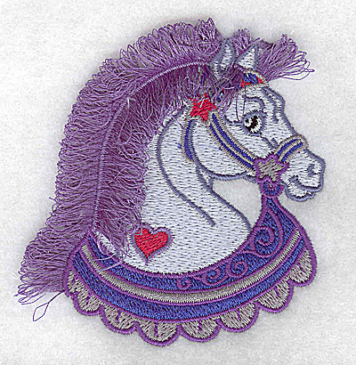 Embroidery Design: Carousel Horse 9 Fringe 3.26w X 3.52h