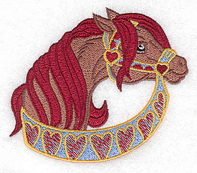 Embroidery Design: Carousel Horse 10 3.69w X 3.18h