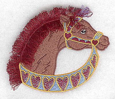 Embroidery Design: Carousel Horse 10 Fringe 3.81w X 3.28h