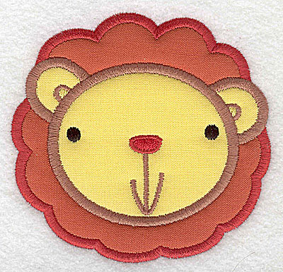 Embroidery Design: Lion head applique small 3.64w X 3.48h