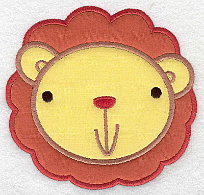 Embroidery Design: Lion head applique large 5.18w X 4.95h