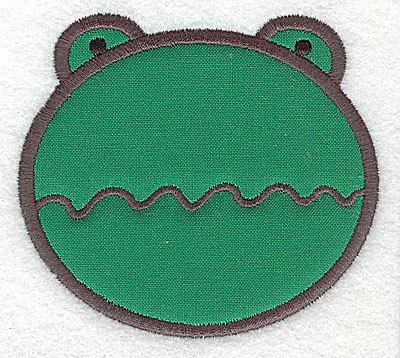 Embroidery Design: Frog head applique small 3.51w X 3.16h