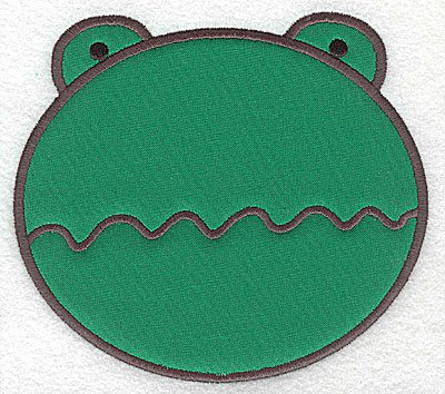 Embroidery Design: Frog head applique large 5.55w X 4.98h