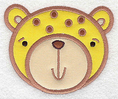 Embroidery Design: Cheetah head applique small 3.74w X 3.08h