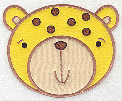Embroidery Design: Cheetah head applique large 6.00w X 4.93h