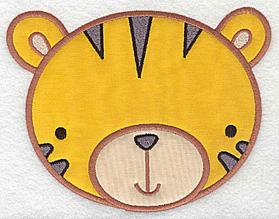 Embroidery Design: Tiger head applique large 6.32w X 4.89h