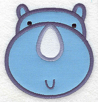 Embroidery Design: Rhino head applique small 3.32w X 3.55h
