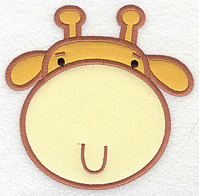 Embroidery Design: Giraffe head applique large 5.08w X 4.97h