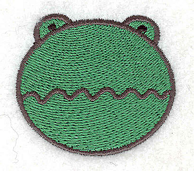 Embroidery Design: Frog head 2.02w X 1.80h
