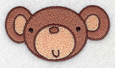 Embroidery Design: Monkey head 2.82w X 1.53h