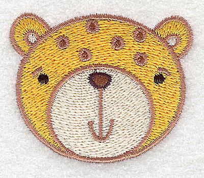 Embroidery Design: Cheetah head 2.22w X 1.82h