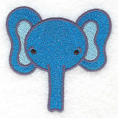Embroidery Design: Elephant head 2.55w X 2.57h