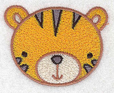 Embroidery Design: Tiger head 2.42w X 1.87h