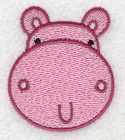Embroidery Design: Hippo head 1.91w X 2.23h