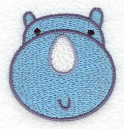 Embroidery Design: Rhino head 2.02w X 2.14h