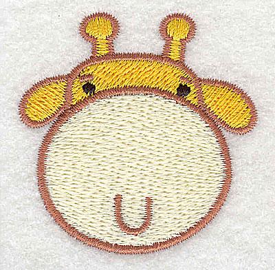 Embroidery Design: Giraffe head 2.03w X 2.06h