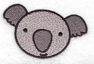 Embroidery Design: Koala bear head 2.58w X 1.60h