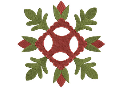 Embroidery Design: Baltimore Quilt Block 7 Lg 7.24w X 7.24h