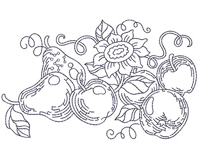 Embroidery Design: Blueworks Basket 1 Lg 4.97w X 4.85h