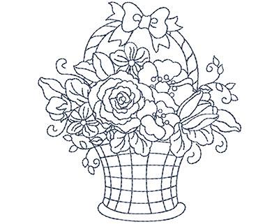 Embroidery Design: Blueworks Basket 2 Sm 3.63w X 3.93h