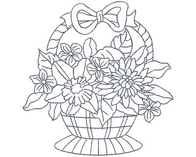 Embroidery Design: Blueworks Basket 3 Lg 4.81w X 4.94h
