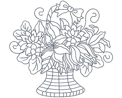 Embroidery Design: Blueworks Basket 4 Lg 4.91w X 4.57h