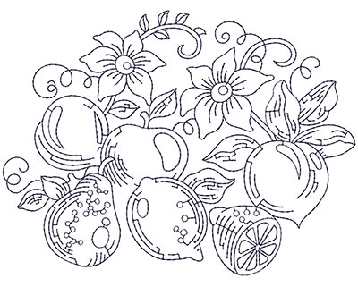Embroidery Design: Fruit Lg 5.82w X 4.39h