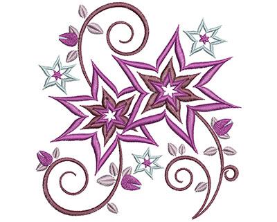 Embroidery Design: Floral Swirls Lg 4.64w X 4.92h