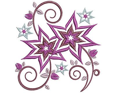 Embroidery Design: Floral Swirls Sm 3.69w X 3.92h