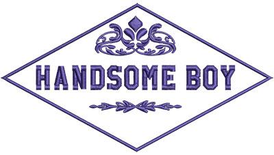 Embroidery Design: Handsome Boy 6.53w X 3.63h