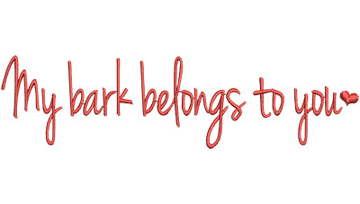 Embroidery Design: May Bark Belongs To You 6.52w X 1.72h