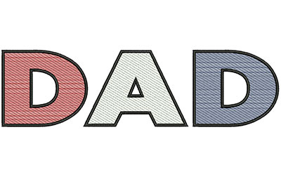 Embroidery Design: Dad Text 10.59w X 2.93h