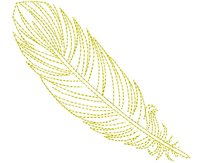 Embroidery Design: Fancy Feather A Large 4.90w X 4.41h