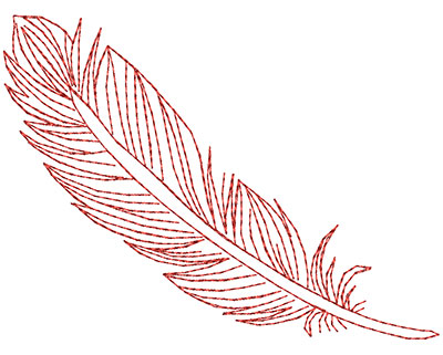 Embroidery Design: Fancy Feather B Large 4.51w X 3.35h